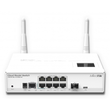 CRS109-8G-1S-2HnD-IN: CRS Desktop Switch with 8GbE, 1SFP + WiFi