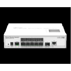 CRS212-1G-10S-1S+IN: 12 Port Fibre Switch in Desktop case