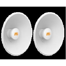 N5-X20x2: 4.9-6.4 GHz Modular Twist-on Antenna, 250mm Dish for C5x - 2 pack