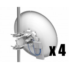 MTAD-5G-30D3-4PA: 30 dBi dish antenna with PA mount - 4 PACK